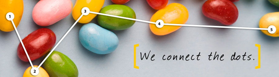 Banner: Jelly Beans - We connect the dots