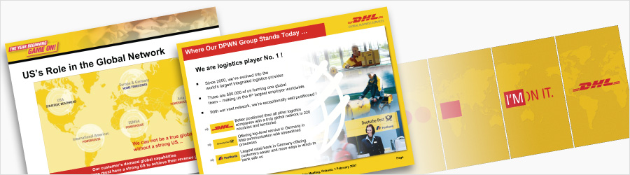 DHL Event PPT Graphics - PowerPoint graphic support...