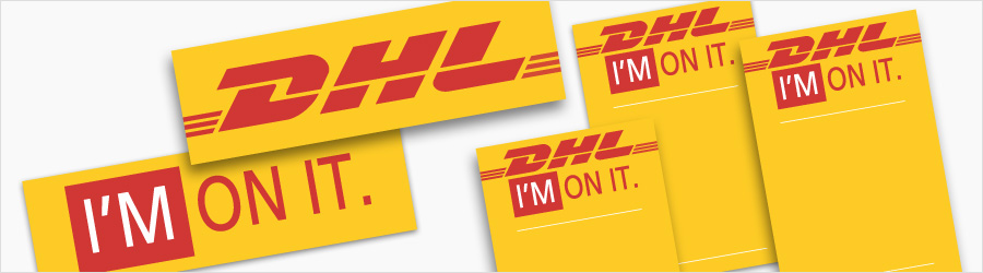 DHL Event Signage - Event signage including large...