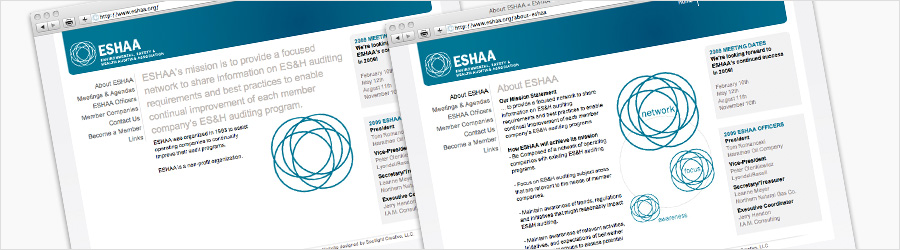 ESHAA Website - Design and CMS development...