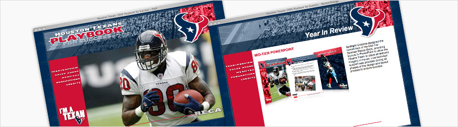 Houston Texans Multimedia Playbook 2007 - Design and development of...