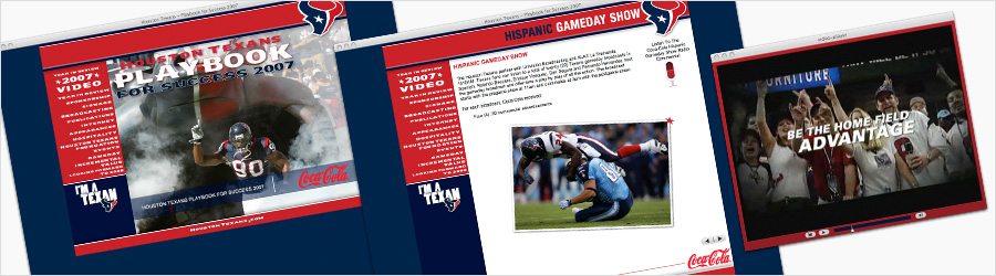 Houston Texans Multimedia Playbook 2008 - Layout and chart branding for...
