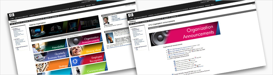 HP Internal Comms Intranet Skin - Intranet graphical layout and...