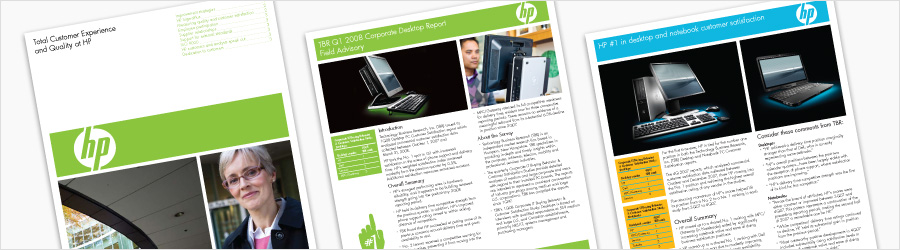 HP Report Collateral - Layout designs for internal...
