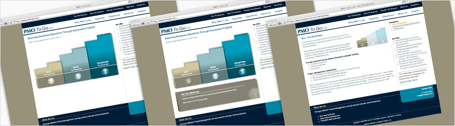 PMO to Go Website - Website design for PMO To Go